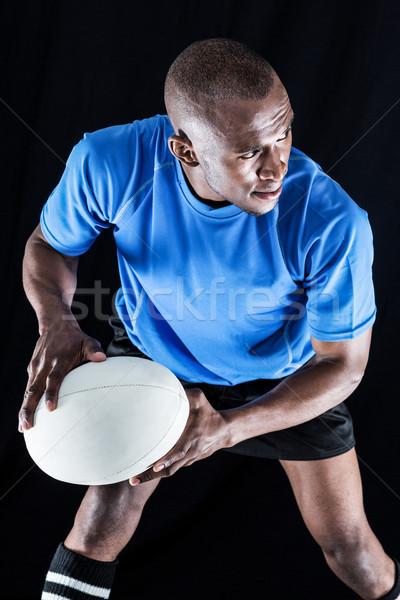 Sportowiec gry rugby czarny sportu Zdjęcia stock © wavebreak_media