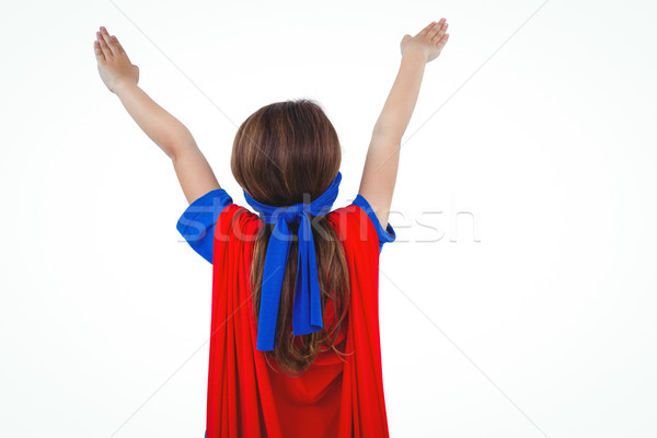 Masked girl pretending to be superhero Stock photo © wavebreak_media