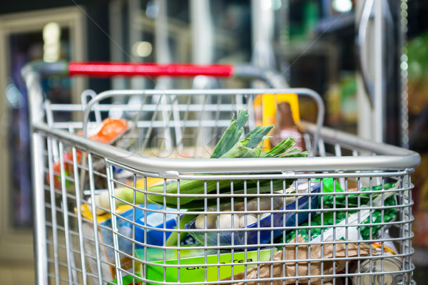 View of filled shopping cart Stock photo © wavebreak_media