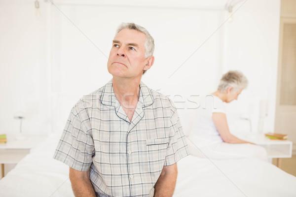 Rahatsız çift diğer yatak odası adam ev Stok fotoğraf © wavebreak_media