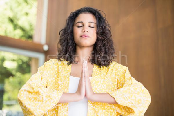 Yoga Lotus posizione mani Foto d'archivio © wavebreak_media