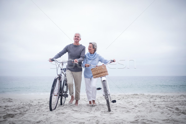 Senior couple having ride with their bike Stock photo © wavebreak_media