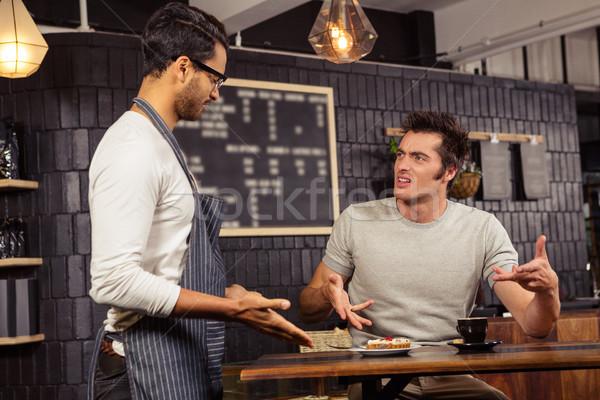 Garçon client discussion café affaires homme Photo stock © wavebreak_media