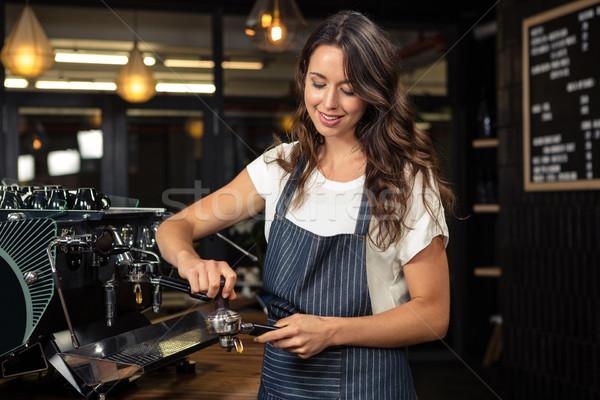 バリスタ コーヒーショップ 女性 食品 コーヒー ストックフォト © wavebreak_media
