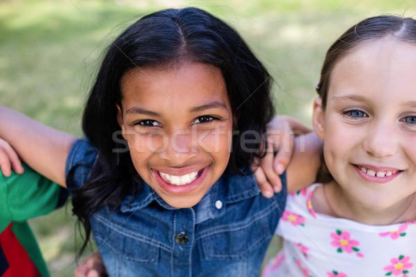 Girls standing in park Stock photo © wavebreak_media