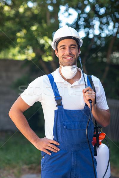 Portrait of confident insecticide worker Stock photo © wavebreak_media