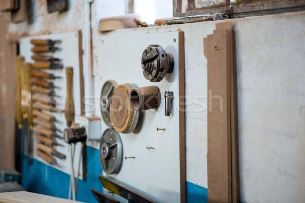 Zoom of carpenters workbench Stock photo © wavebreak_media