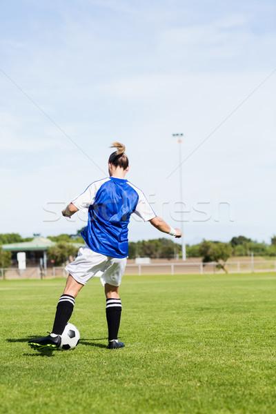 Vista posteriore femminile calcio stadio Foto d'archivio © wavebreak_media