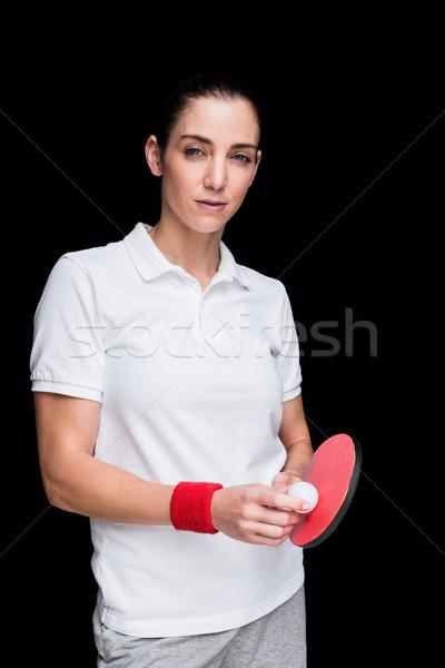 Feminino atleta jogar ping-pong preto corpo Foto stock © wavebreak_media