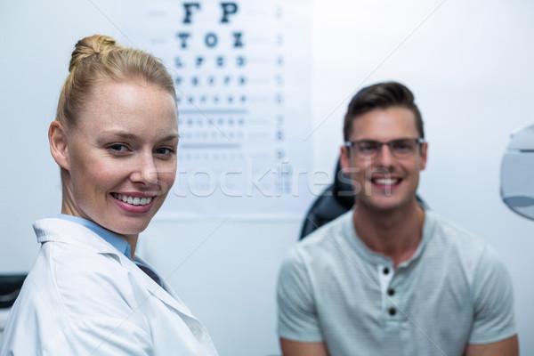 Portrait of female optometrist in ophthalmology clinic Stock photo © wavebreak_media