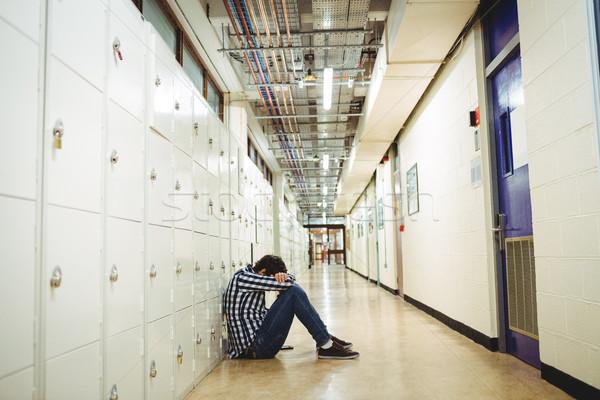 депрессия студент сидят раздевалка голову стороны Сток-фото © wavebreak_media