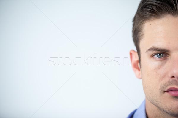 человека контактная линза белый глаза Сток-фото © wavebreak_media