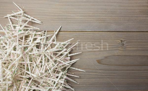 ミニ スパイラル キャンドル 木製のテーブル クローズアップ ホーム ストックフォト © wavebreak_media