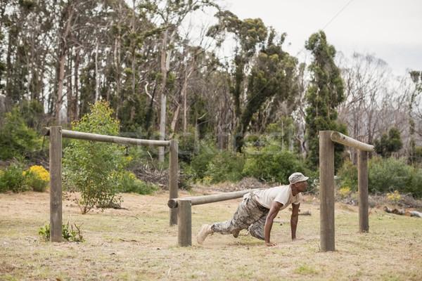 Militar soldado formación fitness camino deportes Foto stock © wavebreak_media