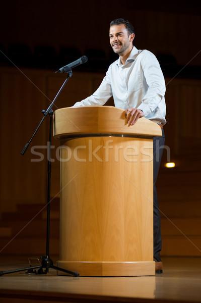 Männlich Business Executive Rede Mann Sitzung Stock foto © wavebreak_media