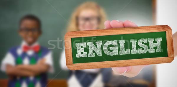 Angielski uczniowie uśmiechnięty kamery kobieta Zdjęcia stock © wavebreak_media