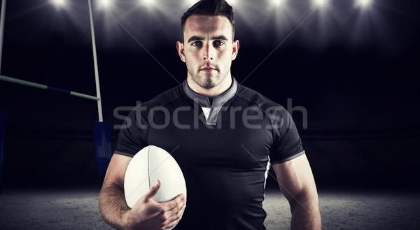 Obraz twardy rugby gracz Zdjęcia stock © wavebreak_media