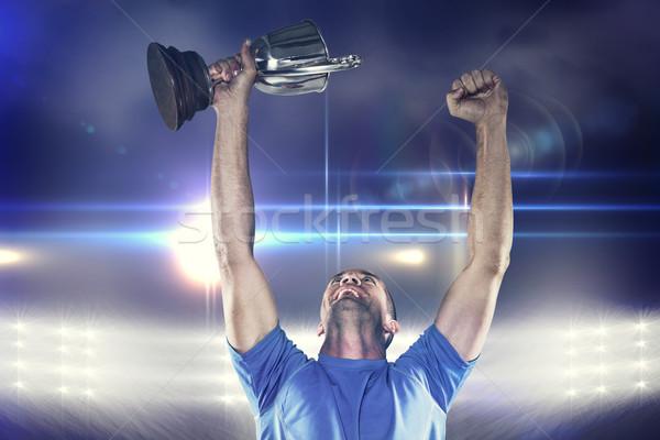 Imagen feliz rugby jugador Foto stock © wavebreak_media