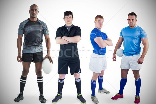 Stok fotoğraf: Sert · rugby · oyuncular · çoklu · spor · uygunluk