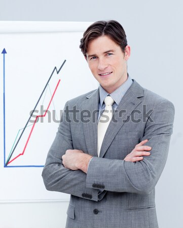 Smiling businessman standing with folded arms  Stock photo © wavebreak_media