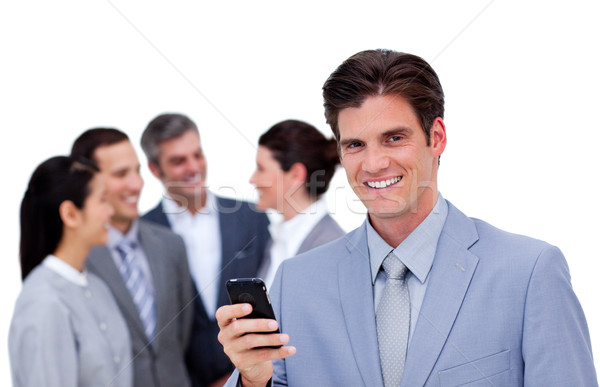 мнение команда бизнеса телефон Сток-фото © wavebreak_media