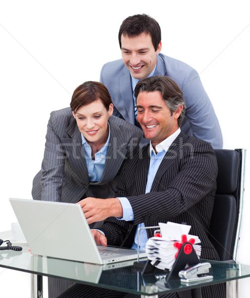 熱狂的な ビジネスチーム 作業 コンピュータ 女性 キーボード ストックフォト © wavebreak_media