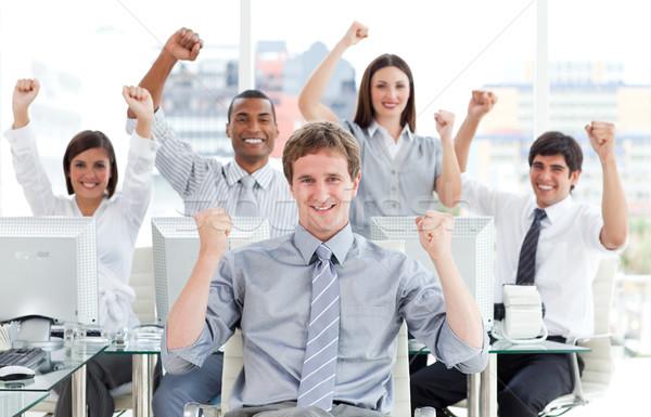 Ambitieus business team vieren succes kantoor business Stockfoto © wavebreak_media