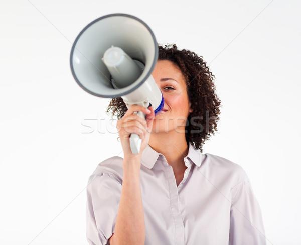 Businesswoman yelling through megaphone  Stock photo © wavebreak_media