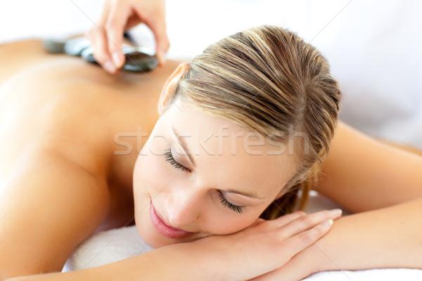 Atrakcyjna kobieta masażu spa strony zdrowia relaks Zdjęcia stock © wavebreak_media