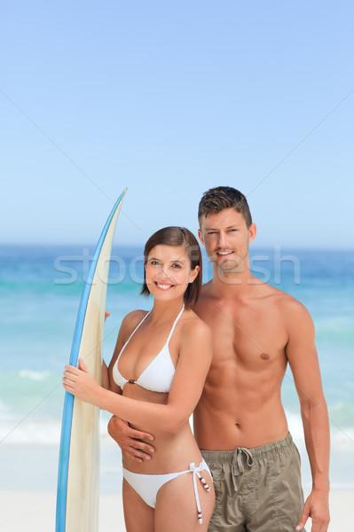 Amanti tavola da surf acqua sport mare Coppia Foto d'archivio © wavebreak_media