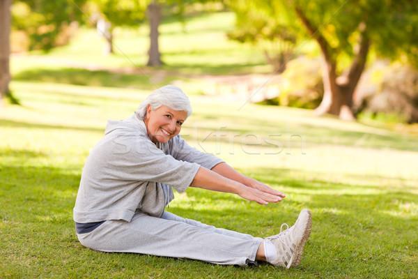 Pensione donna parco salute femminile persona Foto d'archivio © wavebreak_media