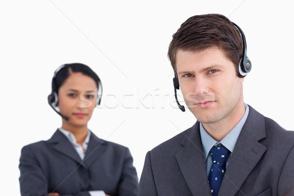 Közelkép komoly néz ügyfélszolgálat fehér férfi Stock fotó © wavebreak_media