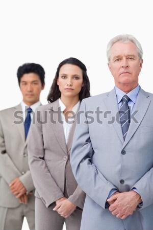 улыбаясь бизнесменов оружия сложенный белый Сток-фото © wavebreak_media