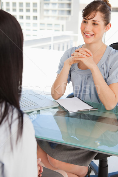 A brunette business woman chats with her other co worker Stock photo © wavebreak_media