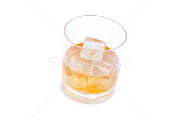 Whiskey on the rocks against a white background Stock photo © wavebreak_media
