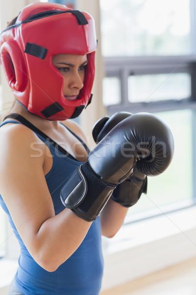 Kobieta boks siłowni sportu fitness zdrowia Zdjęcia stock © wavebreak_media