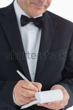 Waiter taking orders on white background Stock photo © wavebreak_media
