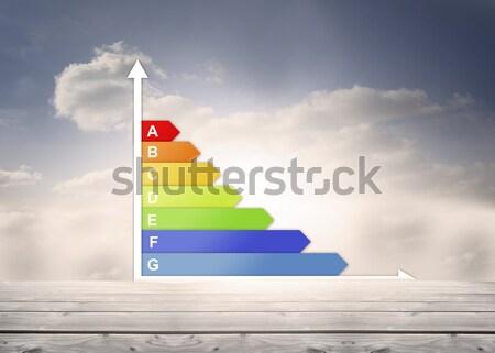Graph concerning carbon dioxide consummation of house Stock photo © wavebreak_media