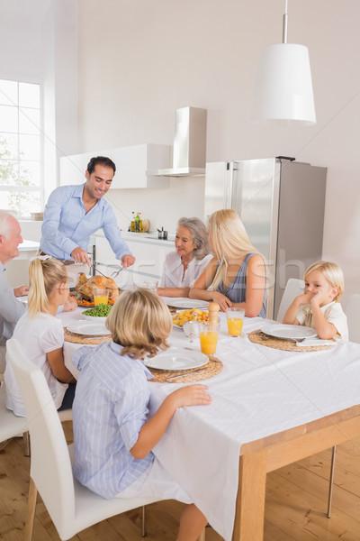 Feliz pai Turquia ação de graças família Foto stock © wavebreak_media