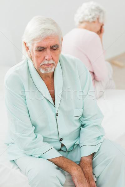 пожилого пару не другой спальня Сток-фото © wavebreak_media