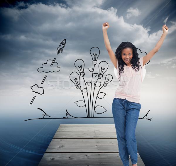 画像 小さな 幸せ 女性 手 ストックフォト © wavebreak_media