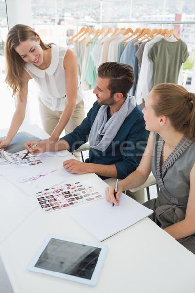 Három divat megbeszél dizájnok stúdió üzlet Stock fotó © wavebreak_media