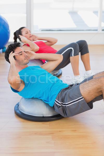 Cúpula equilibrio brillante gimnasio Foto stock © wavebreak_media