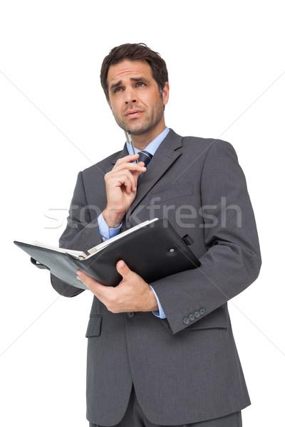 Knap zakenman dagboek witte man Stockfoto © wavebreak_media