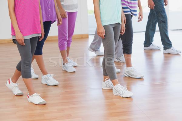 Niedrig Abteilung Fitness Klasse Ausbilder stehen Stock foto © wavebreak_media