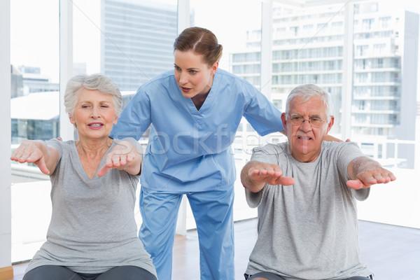 Kobiet terapeuta starszy para portret medycznych biuro Zdjęcia stock © wavebreak_media