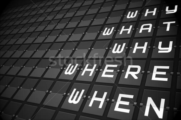 Questions on black mechanical board Stock photo © wavebreak_media