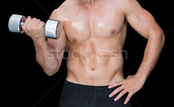 Kas adam ağır siyah Stok fotoğraf © wavebreak_media
