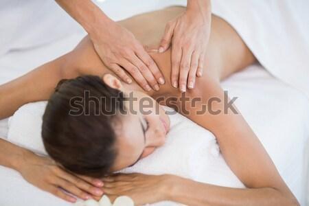 Omuz masaj spa Stok fotoğraf © wavebreak_media