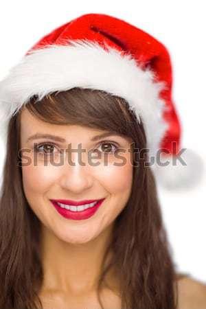 Mosolygó nő néz távolság fehér boldog test Stock fotó © wavebreak_media